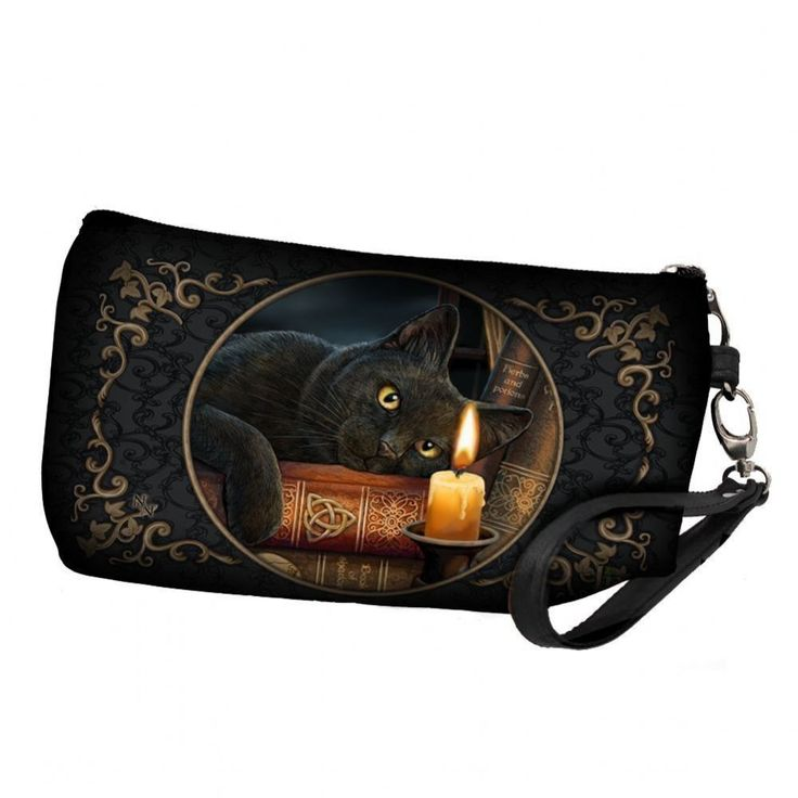 From the imagination of globally renowned fantasy and wildlife artist Lisa Parker comes this washbag Resting on some leather-bound occult books on