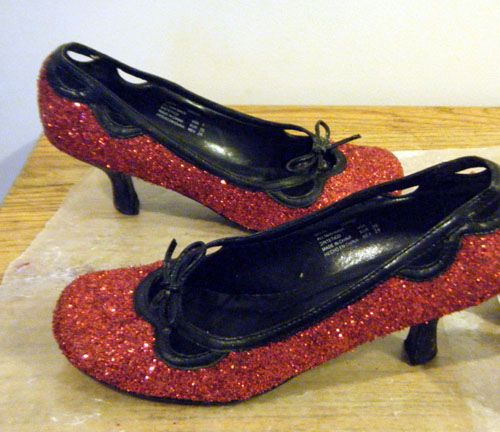 How to Make a Pair of Ruby Slippers: Finished Ruby Slippers