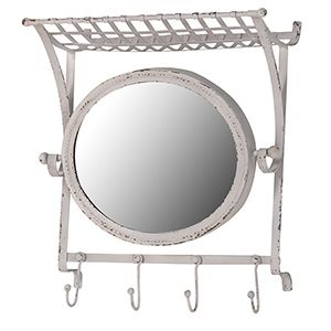 Iron hall mirror with hooks Beautiful £75