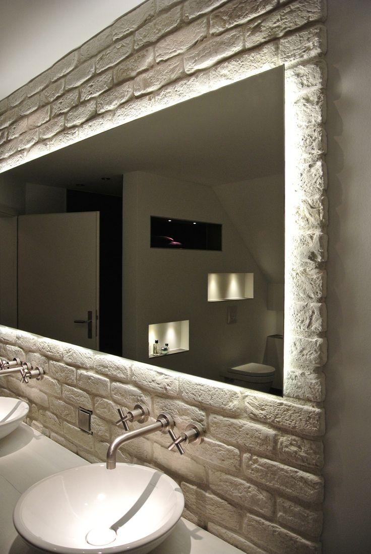Badspiegel Badspiegel Mit Beleuchtung Badspiegel Mit Kosmetikspiegel Badspiegel Badezimmerspiegel Beleuchtet Badezimmer Dekor