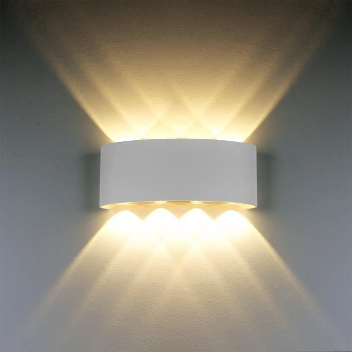 8w Blanc Moderne Applique Murale Led Lampe 100 Aluminium rdexWCBo