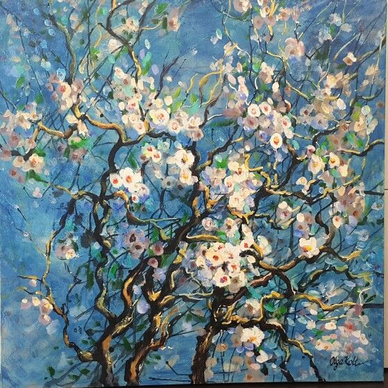 Olga Kolt Spring  Acrylic on canvas  1mx1m approx