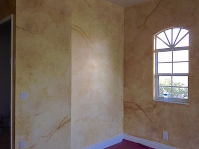 Old world parchment faux finish painting