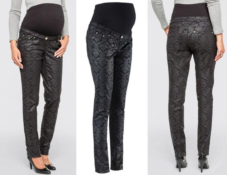 NOVÉ ,,TĚHOTENSKÉ kalhoty se vzorem ala kůže vel.36,40,42 :: AVENTE ...móda s nápadem