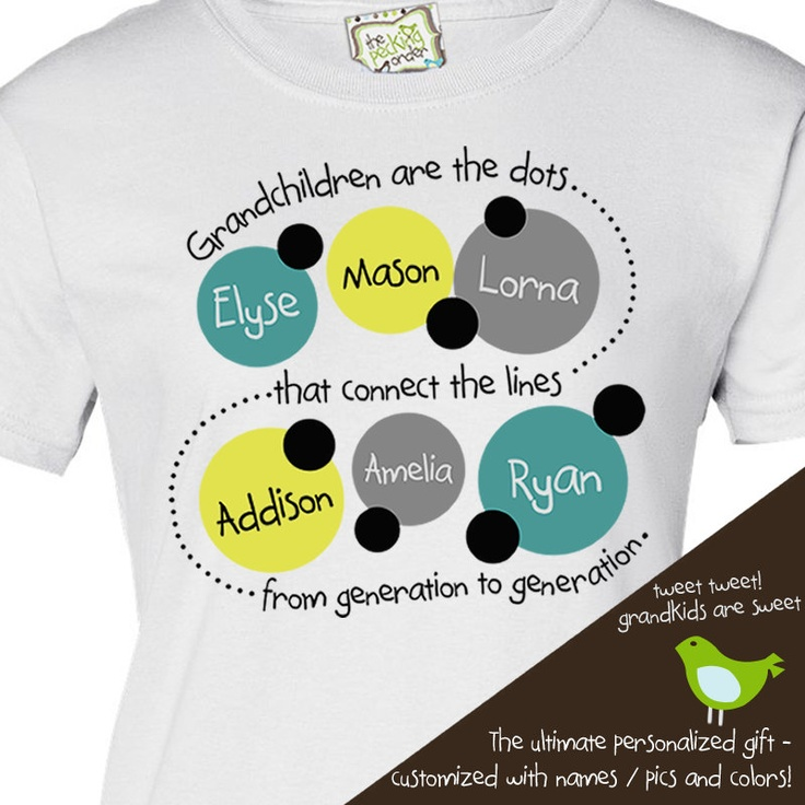 Grandma Shirt Personalized With Grandkids Names Great