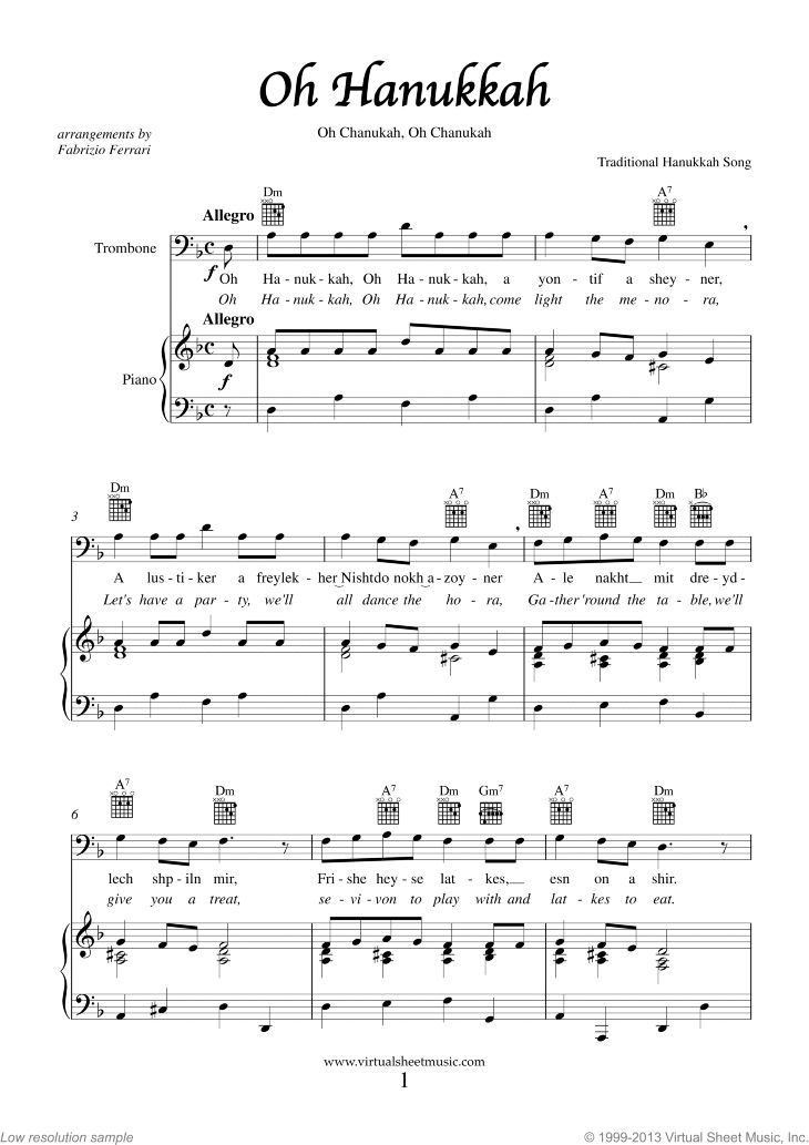 14 best hanukkah sheet music images on pinterest song for Best piano house tracks
