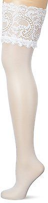 XXXX-Large, Weiß (Weiss), GLAMORY Women'sfort Hold-Up Stockings, 20 Den NEW