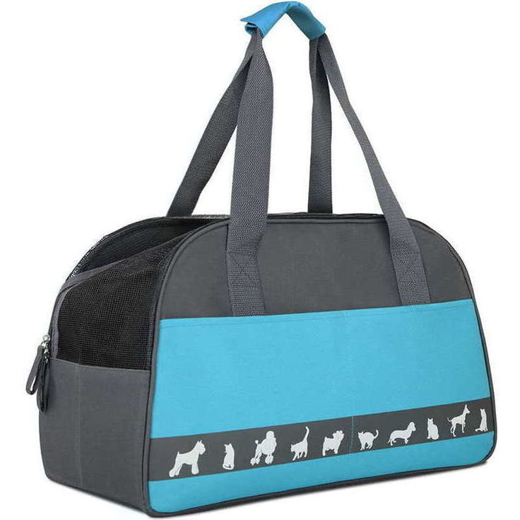 Water Resistant Portable Fabric Pet Carrier in Blue | Buy New Arrivals