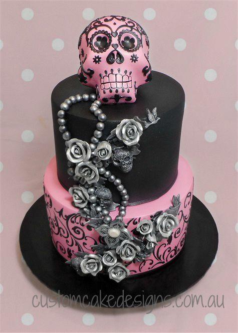 Sugar Skull 21st Cake