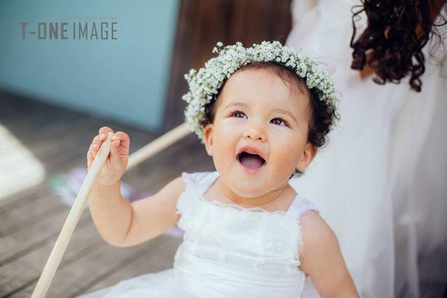 Flower crown for flower girl. Gyp (baby's breath)