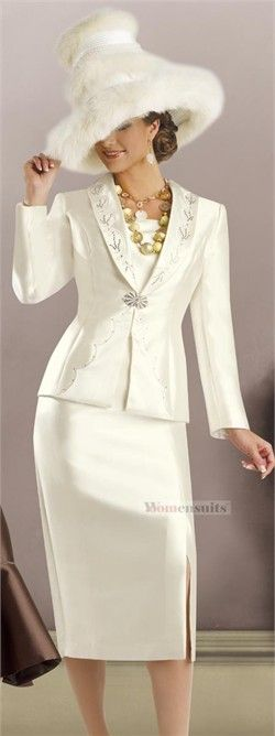 First Sunday Suits | Womens Church Suit, First Sunday Suit, Special Occasion Wear by Donna ...