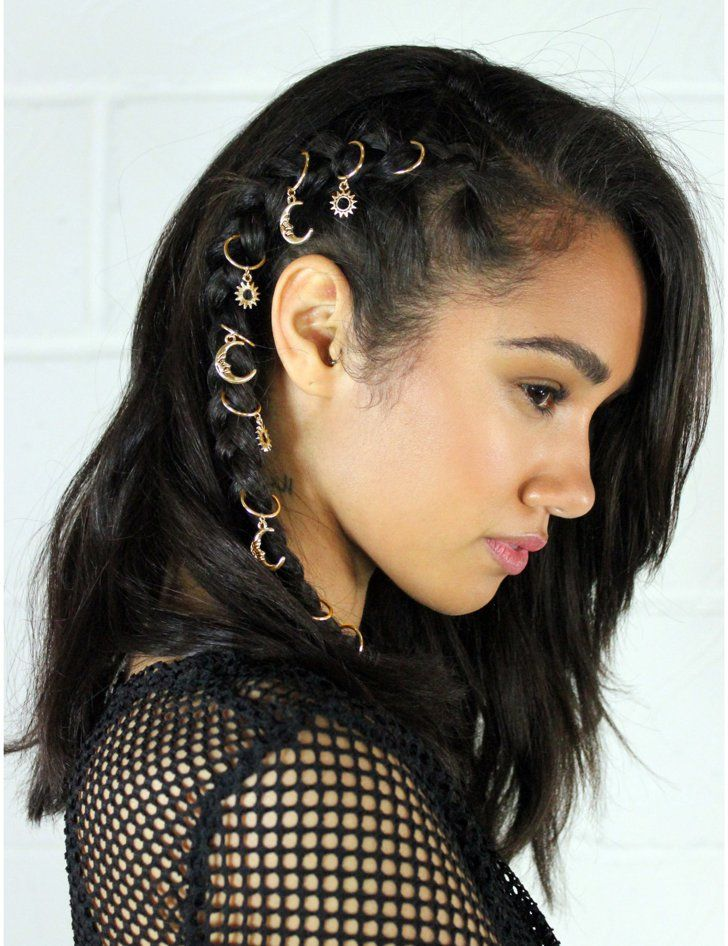 Pin for Later: 29 Ways to Pimp Your Plaits With Hair Jewellery La Moda Day 'N'…