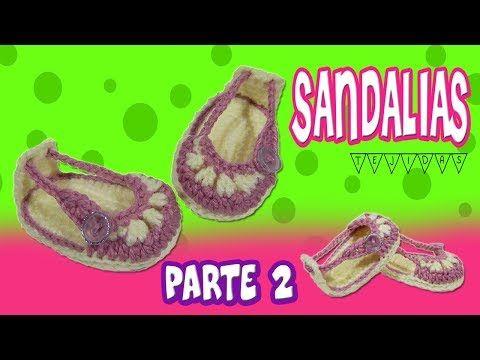 Sandalias o Huaraches tejidos a crochet modelo verano   parte 1/2 - YouTube