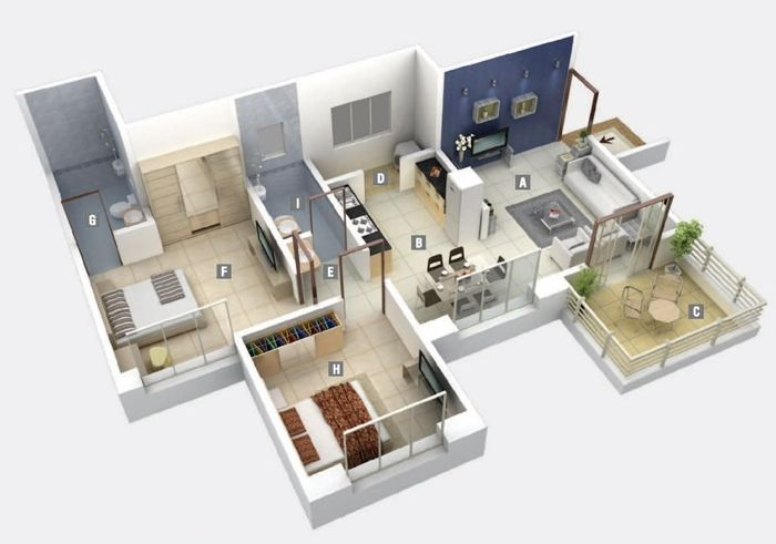 17 Best Ideas About 2 Bedroom Apartments On Pinterest