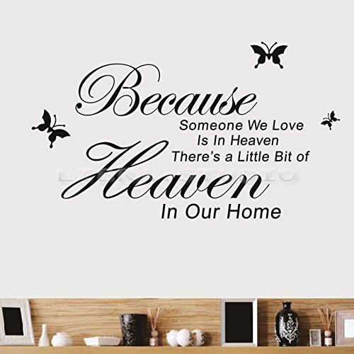 Because Someone We Love Is In Heaven Wall Decal Room Art Home Decoration Black -- ** AMAZON BEST BUY **