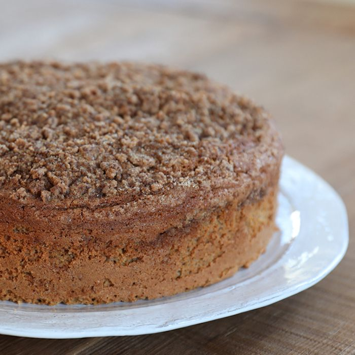 Einkorn Sour Cream Coffee Cake Recipe In 2020 Sour Cream Coffee Cake King Arthur Flour Recipes Coffee Cake Recipes