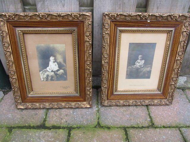 Online veilinghuis Catawiki: Stel antieke foto's achter glas - in fraaie vergulde lijsten