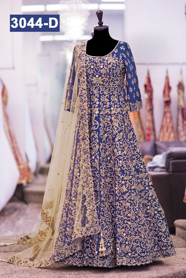 Blue Lehenga Look : http://gunjfashion.com/ Watsapp Now : 90998 23943