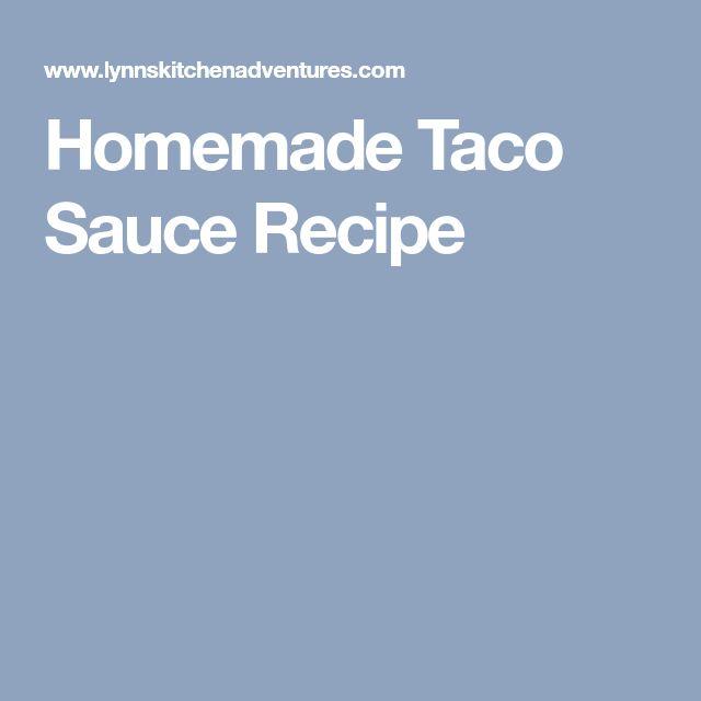Homemade Taco Sauce Recipe