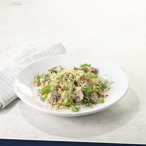 Quinoa piquant aux champignons et à la roquette | Colruyt