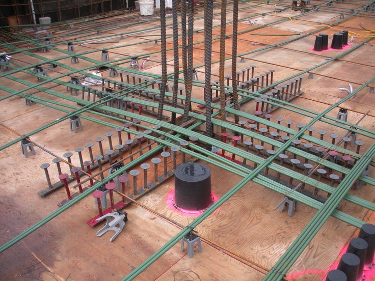 Post Tension And Studrail At Column Unbonded Post