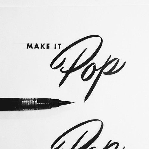 The Pinterest 100: Art & Design.  Brush lettering collection by Neil Secretario.