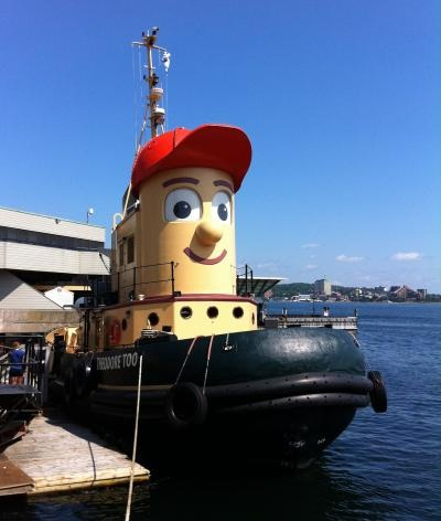 Take the kids on a #Halifax Harbour cruise aboard the smiling Theodore Tugboat.