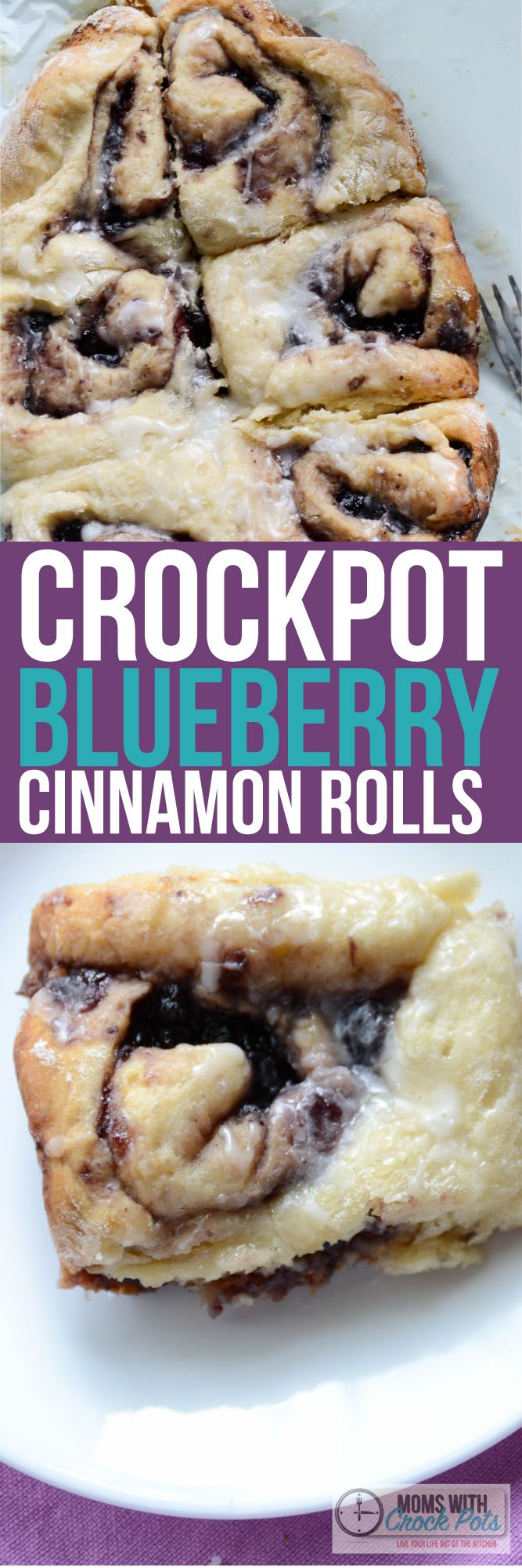 OMG! Who would have ever thought! You must pin/print this Crockpot Blueberry Cinnamon Rolls Recipe! It's amazing!