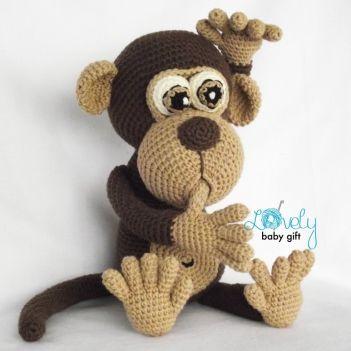 Bruno il modello della scimmia amigurumi da regalo bello del bambino