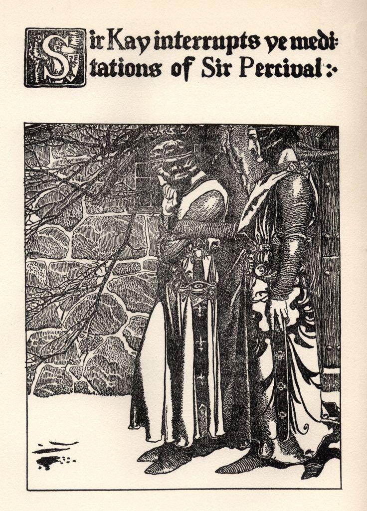 Sir Kay Interrupts the Meditations of Sir Percival