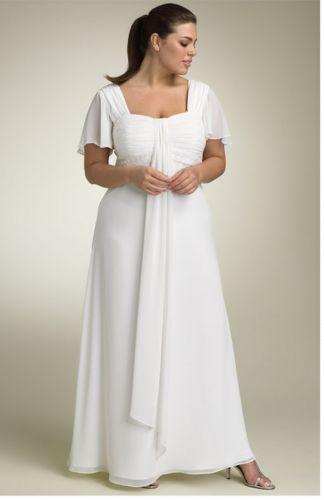 38- en un color azul o uva Vestidos blancos párr las Mujeres Tendencias de talla grande