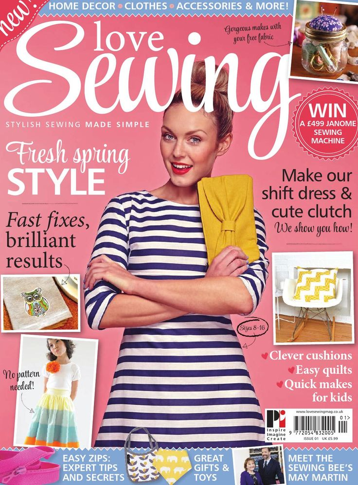 Brand new Love Sewing issue 1 our brand new sewing title is on sale next week, here is your chance to order one of the most anticipated Sewing titles of 2014! visit http://www.moremags.com/sewing/love-sewing
