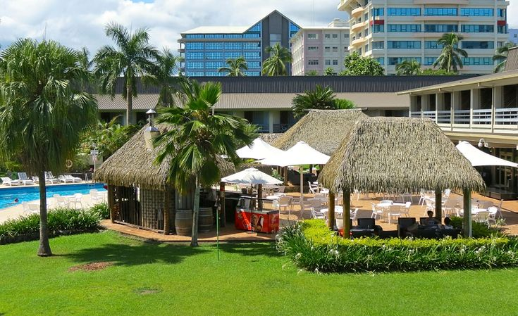 The recreational and relaxed atmosphere at the Holiday Inn Suva