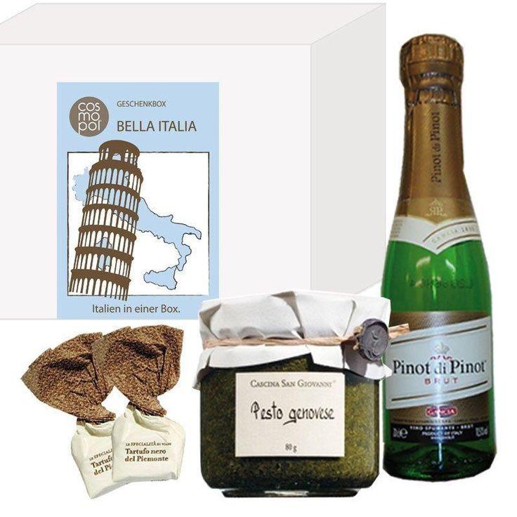 Die kleine Geschenkbox Italien als passendes Geschenk für Freunde und als Dankeschöngeschenk. Verschenken Sie ein Stück Bella Italia.