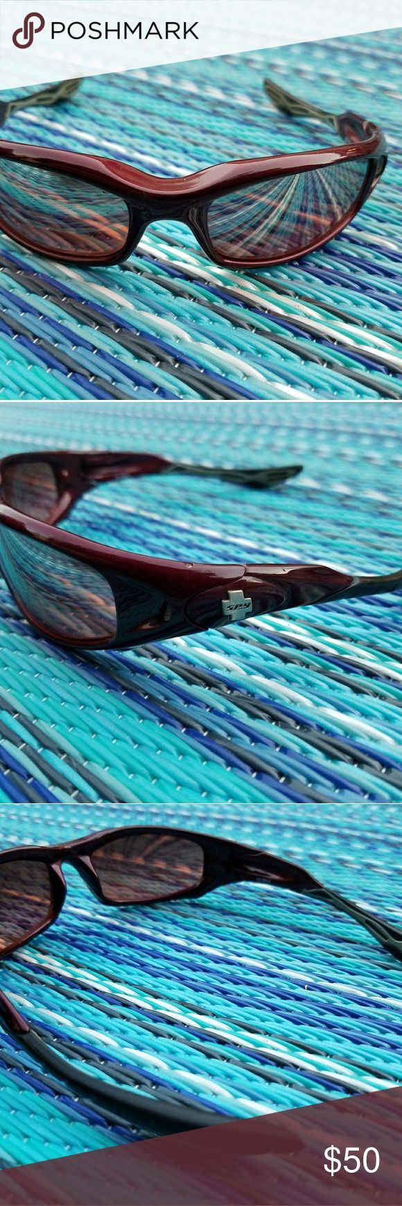 Spy sunglasses (maroon) Name brand: Spy   Sunglasses   Scoop HS   color: burgundy SPY Accessories Sunglasses