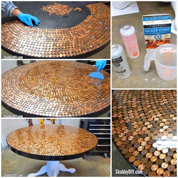 This tutorial and video shares how to create a penny table top with epoxy glaze diy project so a homesteader with basic skills can accomplish it. Make sure