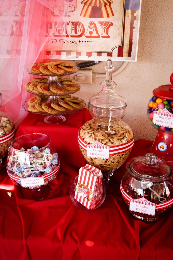 Circus Candy Buffet for my Son :)