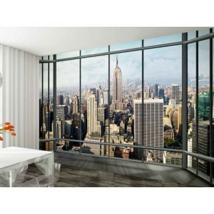New York Skyline Window   Wall Mural By Scott Haydn
