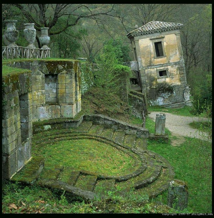 Parco dei mostri - Bomarzo, near Rome - Italy. By Philip Greenspun: Parco Dei, Abandoned Building, Rome Italy, Abandoned Place, Abandoned Castles, Abandoned Homes, Dei Mostri, Growing Moss, Abandoned Church