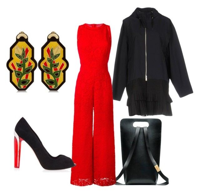 """Honest Red"" by fishpinochio on Polyvore featuring Christian Dior, Ermanno Scervino, Alexander McQueen and Anna e Alex"