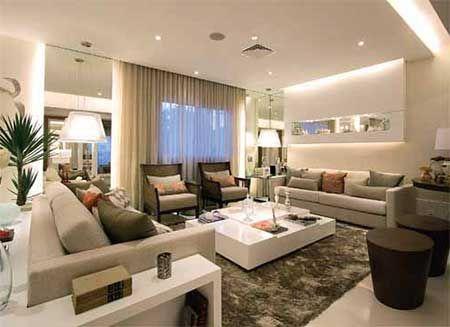 1000 ideas about sala de estar decorada on pinterest for Idea sala de estar cuadrada