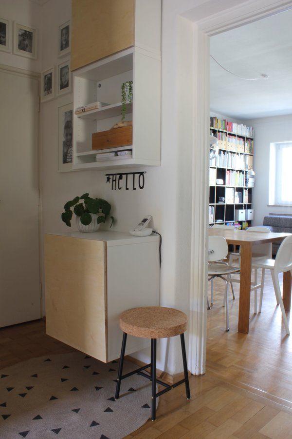In unserem Flur ist kein Platz für große Möbel, deswegen gibt es seit kurzem endlich eine Ikea Besta Lösung mit eigenen Fronten! Auf dem Blog gibt es dazu einen Download der Bohrschablone!!