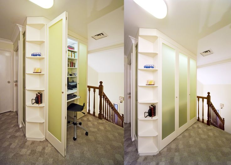 We can design a hideaway office area into your home.
