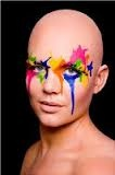 paint splattered faces caitlin - Google Search