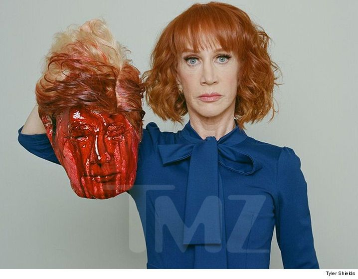 Kathy Griffin Beheads President Trump In Photoshoot UPDATE1: Griffin Posts Video Online Of Decapitation? UPDATE2: Now That The Secret Service Is Investigating, Kathy Griffin Is Suddenly Sorry?