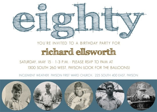 97 best 80th birthday party images on pinterest | 80th birthday, Birthday invitations