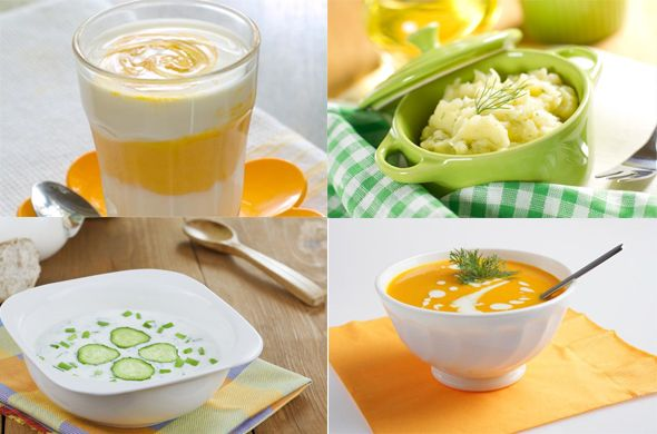 Sample weekly menu for babies from 9 to 11 months old