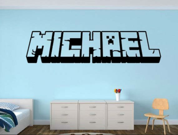 Minecraft My Name decal Personalized craft by WordFactoryDesign