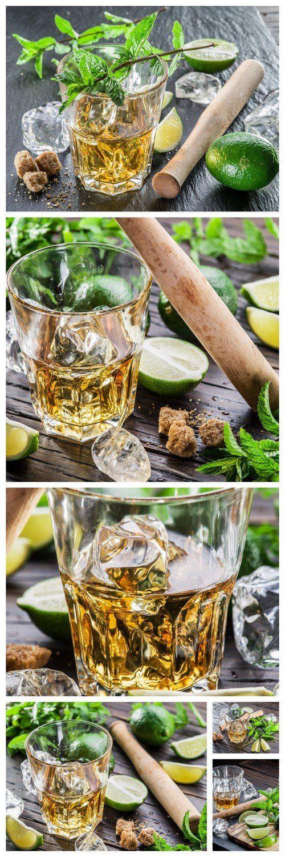 Mojito cocktail ingredients 6X JPEG