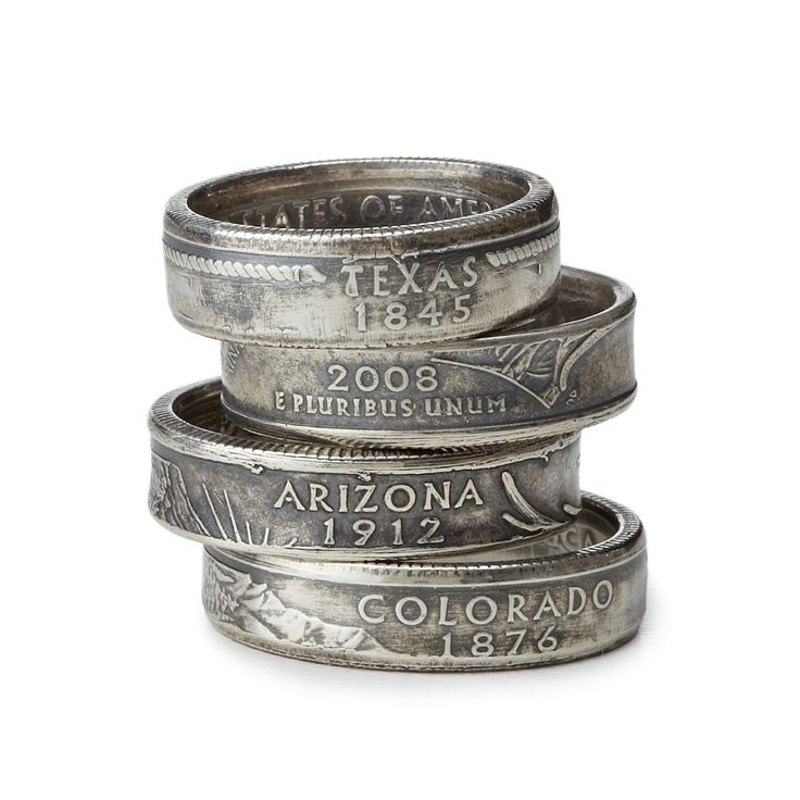 STATE QUARTER RING | Jewelry, Ring, Silver, Coin, State Quarter, Custom, Geography, Map, Teenager, Student | UncommonGoods